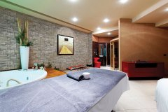 Interior of massage room in spa center