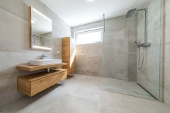modern bathroom in new build house